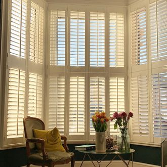 White Shutters in victorian home