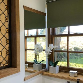 Jerico roller blind in bathroom