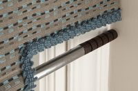 a close up image of the pole for the roller blind