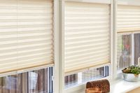 Pleated blinds fitted to windows using Perfectfit fitting option