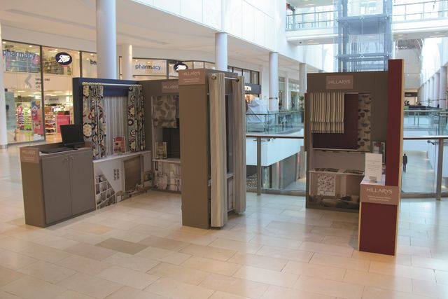 A hillarys pop up shop that is located in the Highcross shopping centre in Leicester