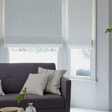 Roman Blind_Rattan Stone_Living Room
