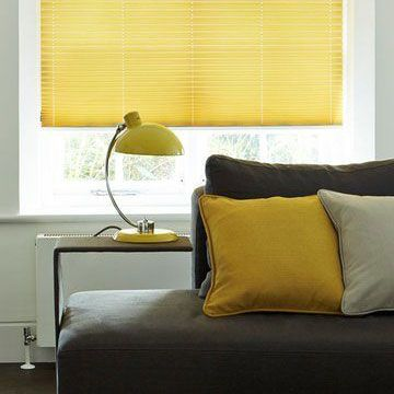 Pleated Blind_Grenoble Citrus_Living Room