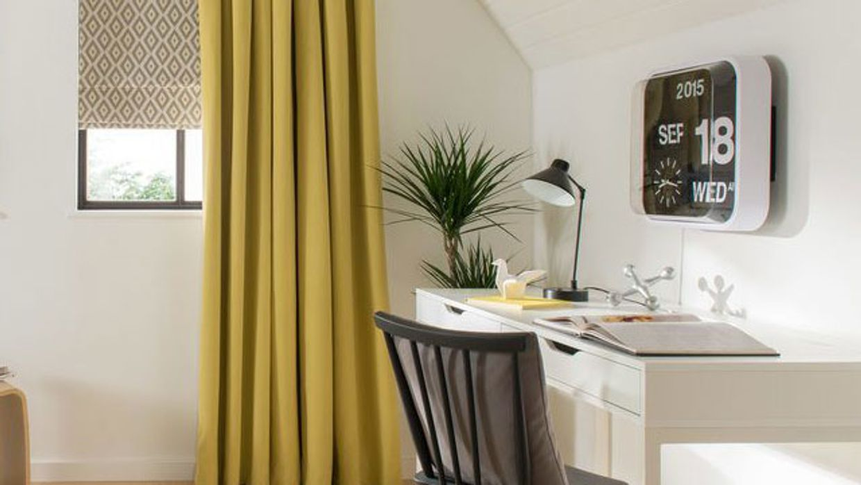 Yellow-curtains---study-Natur-Tetbury-Mustard