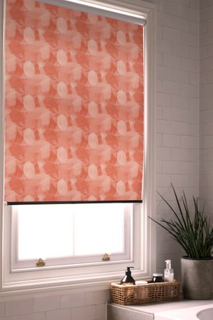 Cuba Fiesta Roller blind in a bathroom window