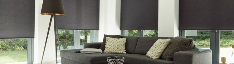 black-living-room-roller-blind