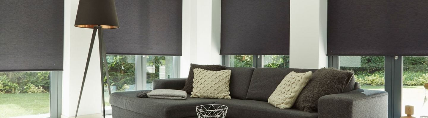 Black-Roller-blind-Living-Room-Acacia-Black