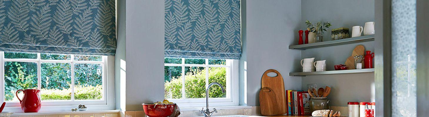 blue roman blinds hillarys. Black Bedroom Furniture Sets. Home Design Ideas