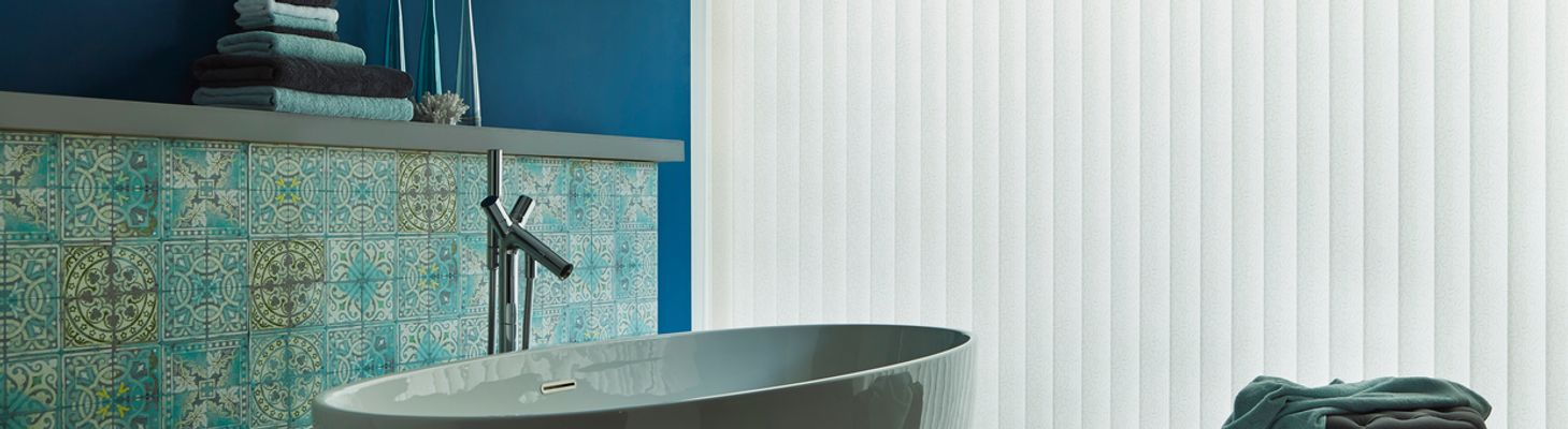 Alma Ivory-Vertical blind-Bathroom