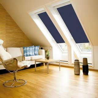 Velux Blind_9050 Dark Blue_Roomset
