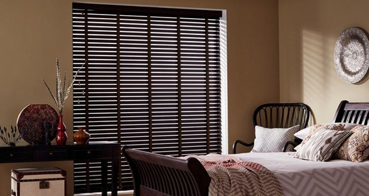 Wimborne Patina wood venetian blind-bedroom