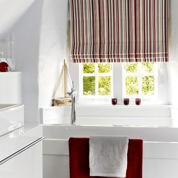 City-cherry-stripy-Roman-blind-Bathroom