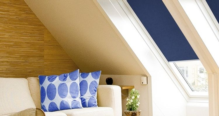 dark-blue-velux-blind-living-room