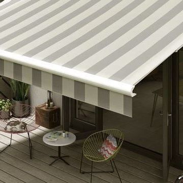 Awning-Grey Stripe