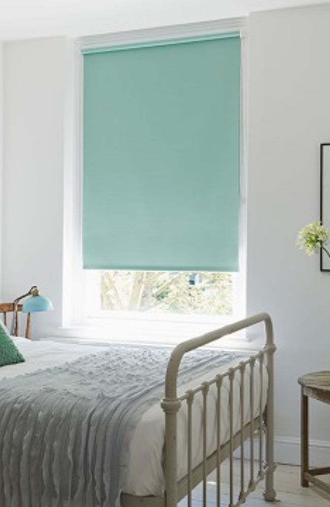 Green Bedroom Roller Blind_Burma Eau De Nil