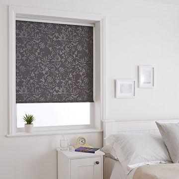 Grey Bedroom Roller Blind_Dulcie Anthracite