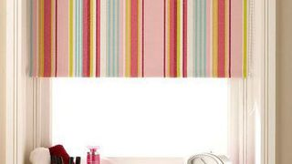 Pink Striped Bedroom Roller Blind_Circus Hot Pink