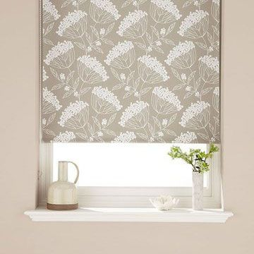 Natural Floral Bedroom Roller Blind_Elsham Natural