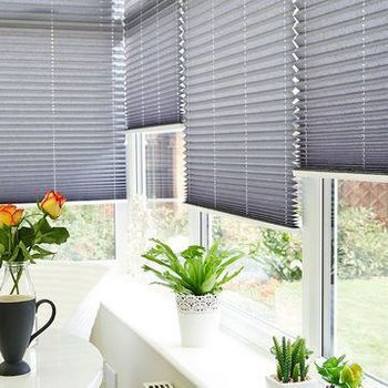 Crush Charcoal Pleated Blind