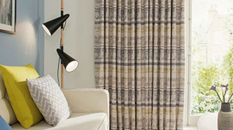 Fjord Mineral Made to Measure Curtains in the Living Room