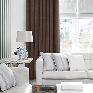Curtain_Lyon Chocolate_Roomset
