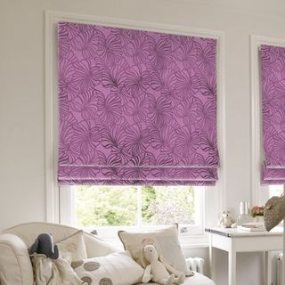 Roman Blind_Broadleigh Aubergine_Roomset