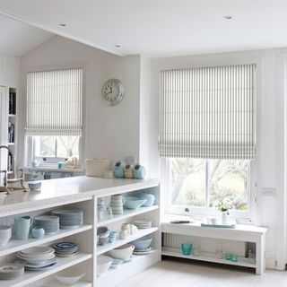 Roman Blind_Downtown Mink_Roomset