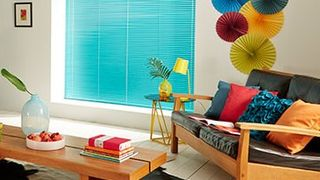 Venetian Blind_Electric Aqua_Living Room
