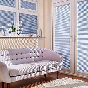 Venetian Perfect-Fit Blind_Ice Blue_Conservatory