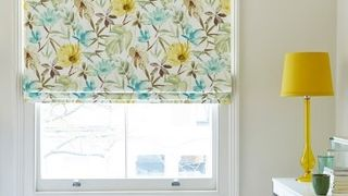 yellow-floral-blackout-roman-blind-bedroom-origin-citrine