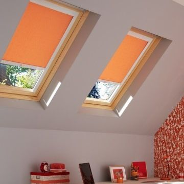 Skylight Blind_Sherbourne Orange_Bedroom