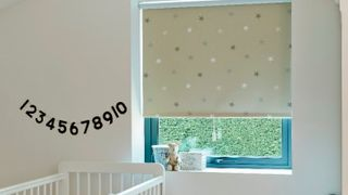 Roller Blind_Twinkle Stars Beige_Childrens Bedroom