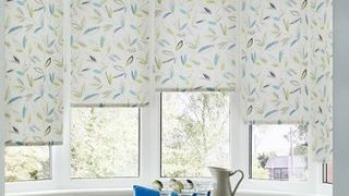 Yellow Patterned Dining Room Roller Blind_Joya
