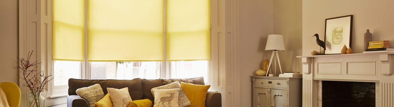 Yellow Roller Blind Living Room Ravenna Zest