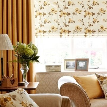 orange-curtains---living-room---WILMSLOW