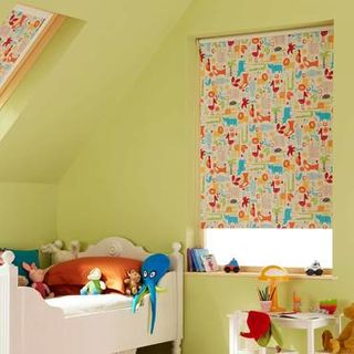 Roller Blind_Animals Orange_Roomset