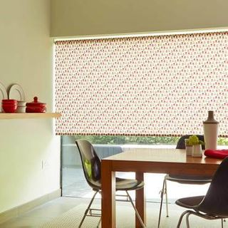 Roller Blind_Nelda Red_Roomset