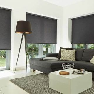 Roller Blind_Norfolk Charcoal_Roomset