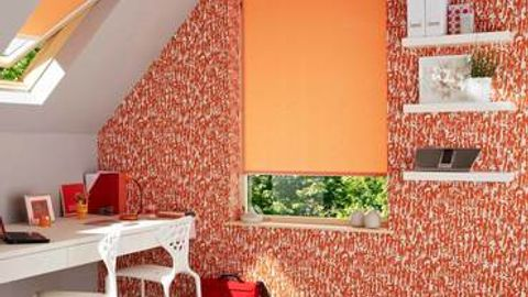 Roller Blind_Sherbourne Orange_Roomset