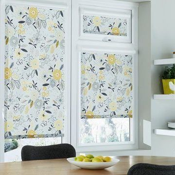 Perfect Fit Roller Blind_Betsy Mustard_Dining Room