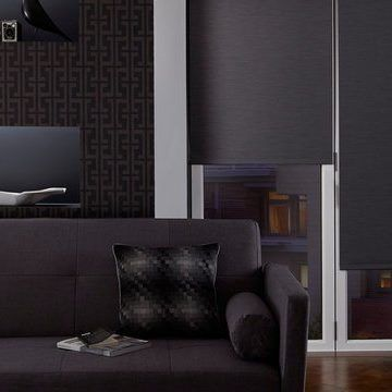 Charcoal Living Room Roller Blind_Jerico Charcoal