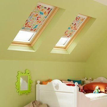 Skylight Blind_Animals Orange_Childrens Bedroom