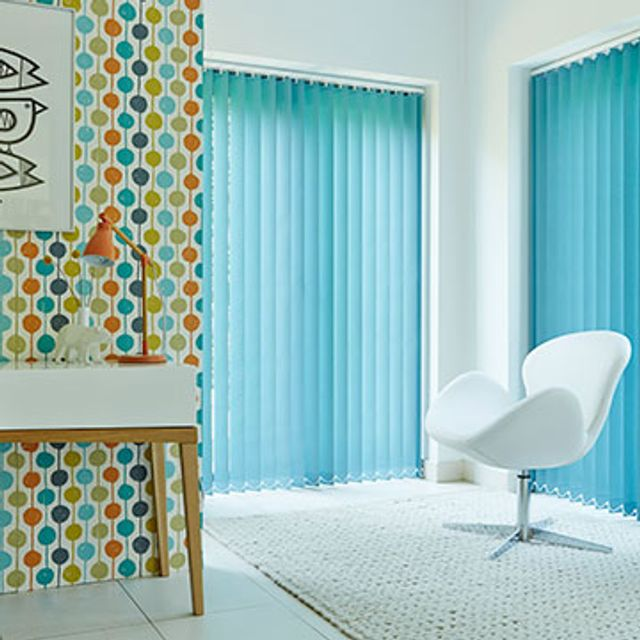 Vertical Blind_Acacia Teal_Living room