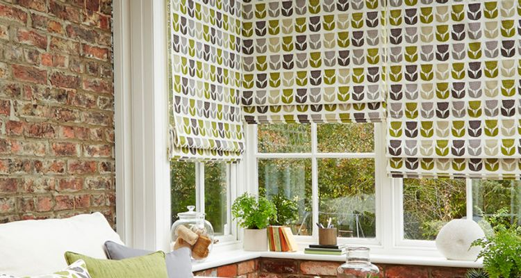 Green roman blind-Conservatory-Rayna apple