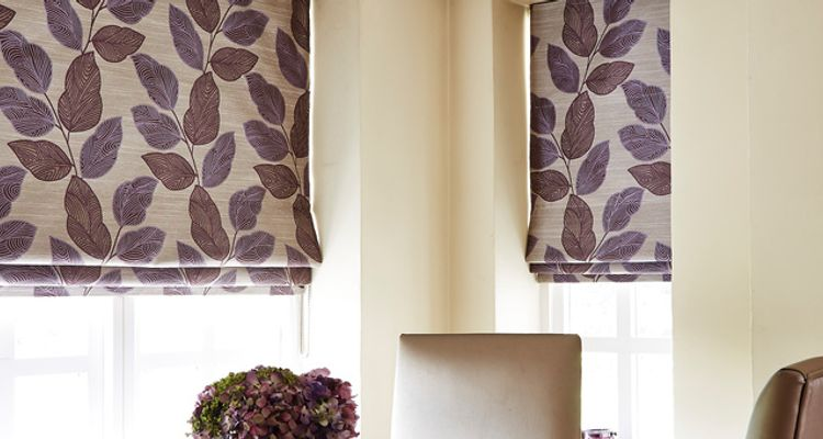 Purple roman blind-Kitchen-Indira aubergine