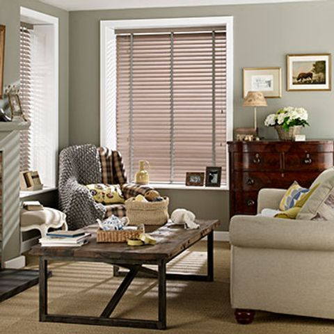 Wooden Blind_Haywood Washboard Grey_Living Room