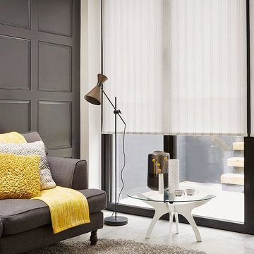 Roller Blind_Candra Pewter_Living Room