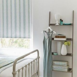 Grey Striped bedroom Roller Blind_Melia Mineral