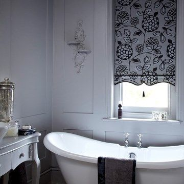 Monochrome Bedroom Roller Blind_Serena