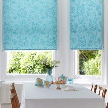 Teal Dining Room Roller Blind_Serena